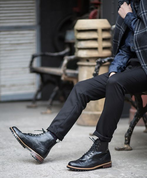 Man in Pink   Brogue Boots