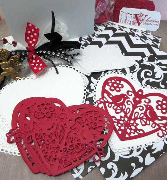 Romantic DIY Valentine Card Kit (6 pcs) at CrazyCraftyCreators, $8.95