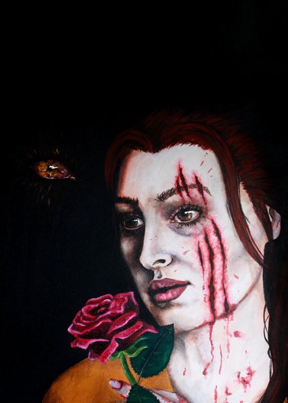 Beauty & the Beast  Horror/Macabre Painting by SometimesAliceFX