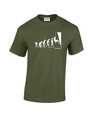 Evolution of man - rock #climbing mens #printed t-shirt in 5 #colours,  View more on the LINK: 	http://www.zeppy.io/product/gb/2/251791679340/