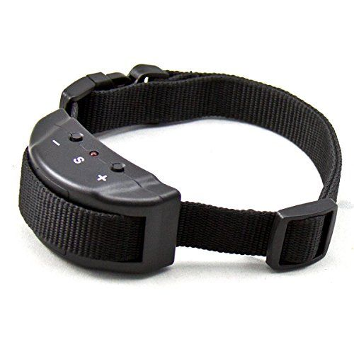 Humane Anti Bark Shock Collar Training System Ideal for Small, Medium, and Large Dogs. Waterproof With 7 Levels of Adjustability - Beeps Several Times Before Applying Static Shock. HUMANE BARK CONTROL: Guaranteed to stop unwanted barking by progressively increasing warning sounds and harmless static stimulus. IDEAL FOR DOGS OVER 15 LBS: 7 sensitivity levels adjustable for the different size of dogs barking and specific environments.. https://www.alphadogcollars.com/alpha-series.php