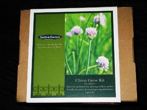 Chives Grow Kit . $4.99. by Smith & Hawken. Packet of Seeds, (2) Plastic Liners and Growing Instructions. Kit Contains:. Recycled Cardboard Box, Planting Medium. Chives Grow Kit. Chives Grow Kit by Smith & Hawken