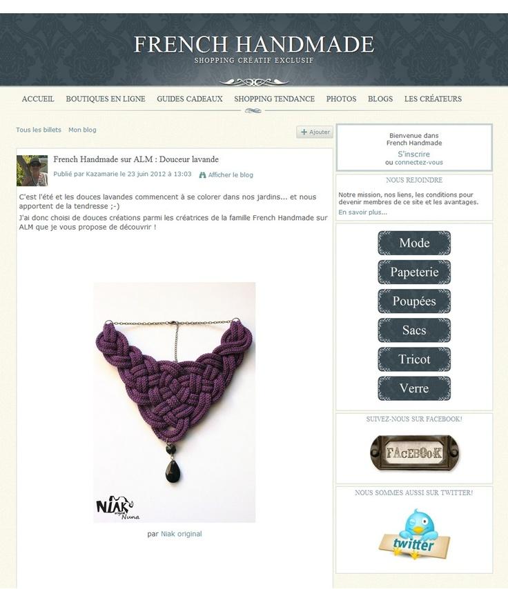 le collier NUNA de Niak Original sur le blog de FRENCH HAND MADE