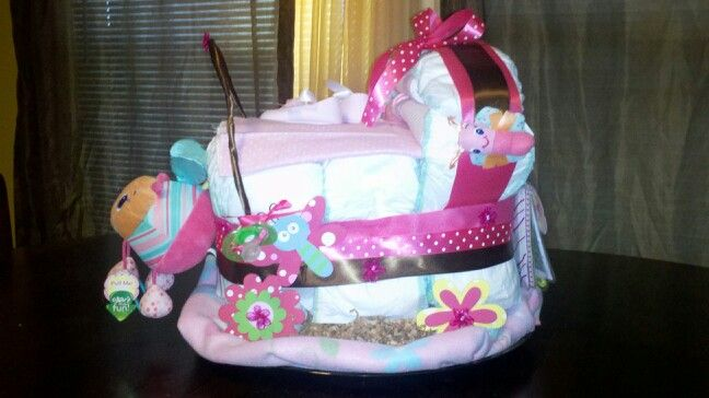 Diaper Cake Stroller Diaper Cake