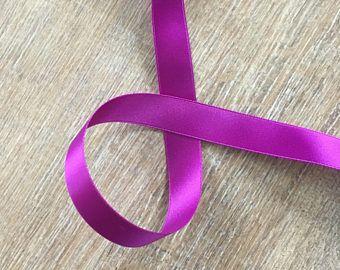 Purple doubles ruban Satin Corset lacets, 16mm de large - laçage de Corset - ruban de satin double face Swiss quality - Corsetlacing grand - Ruba