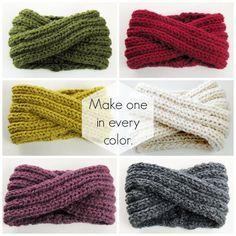 Infinity Headband Knitting Pattern – Ohrwärmer Knitting Pattern – Chunky Cowl Strickmuster – Chunky Turban Headband – DIY PDF