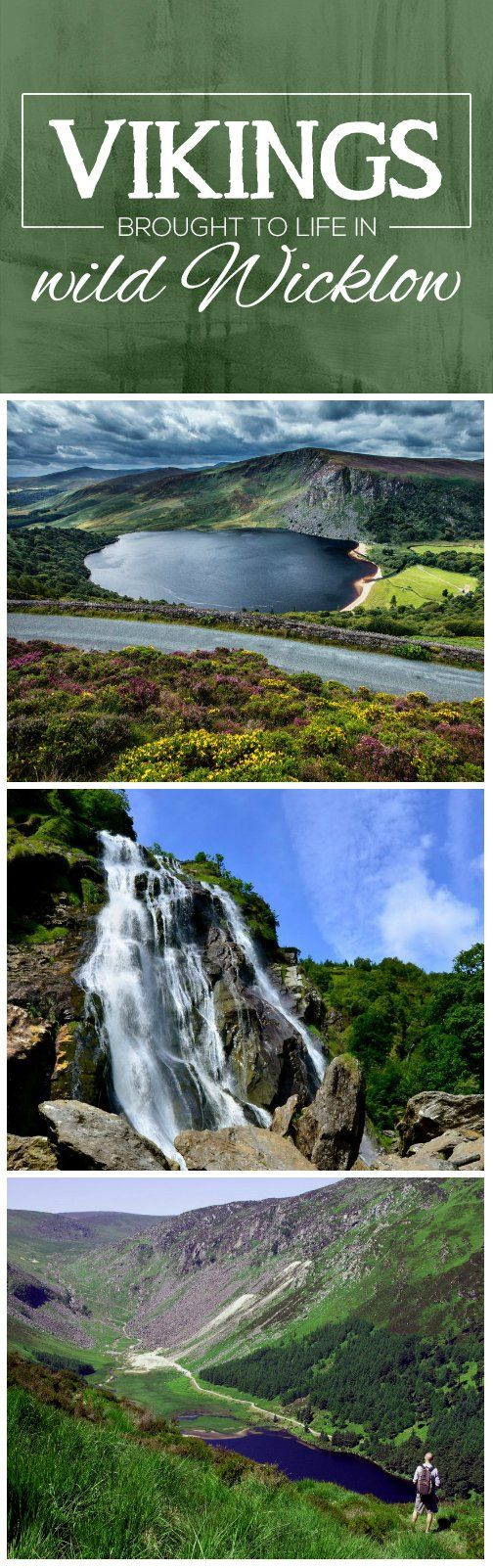 It may seem strange that the Vikings series is filmed in Ireland – but it all make sense when you take one glance at these striking images. County Wicklow is the perfect place to capture the wild views needed to bring this hit TV show to life. Lough Tay is the main filming location, acting as the epic backdrop to the village set; while Powerscourt Waterfall and the stunning valley of Glendalough also feature in all their splendor.