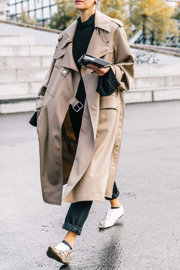 Trench Coat Outfit, Fashionable Long Trench Coats