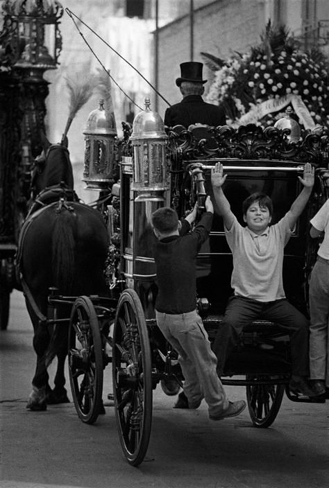 Photo by Bruno Barbey, Funeral procession Naples Italy 1964