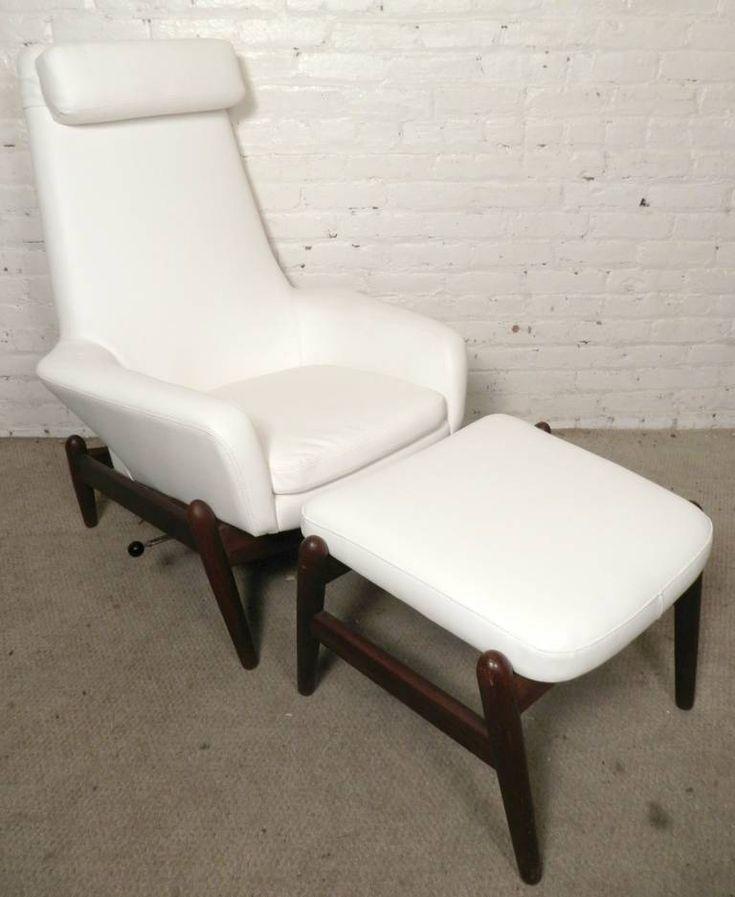 Ib Kofod-Larsen Mid-Century Reclining Chair and Ottoman