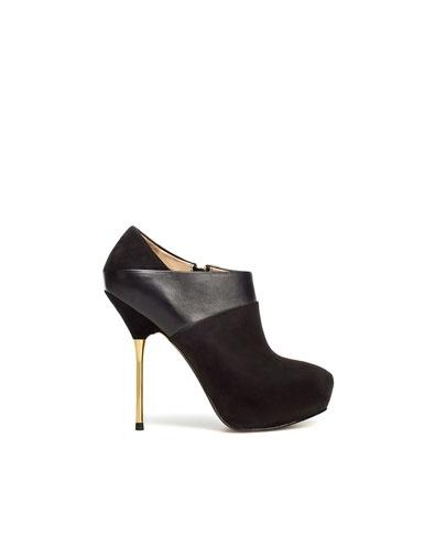 BOTÍN PLATAFORMA MECHÓN - Zapatos - Mujer - ZARA Ecuador