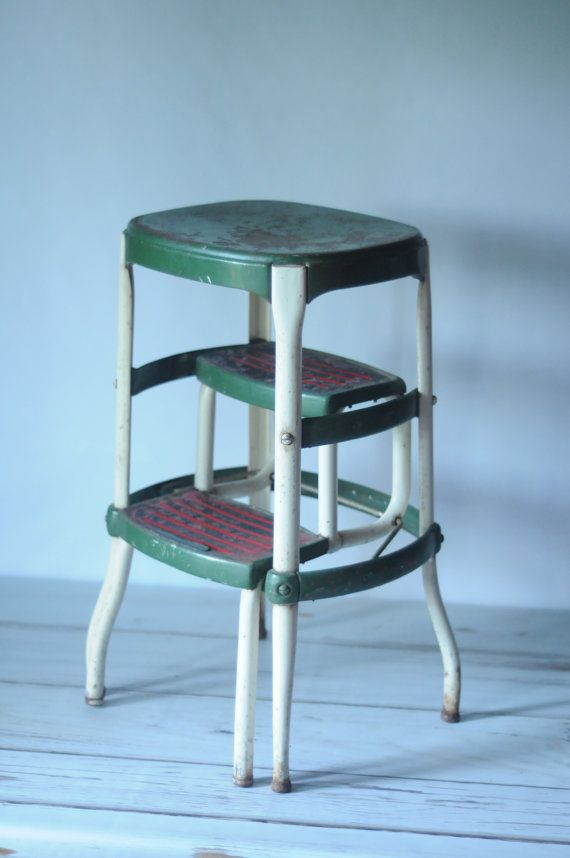 step stool with handle for toddler vintage kitchen green and white modern metal chair price