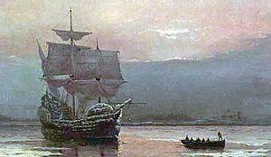April 5 - The Mayflower's return trip