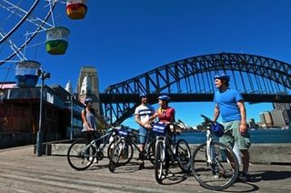 Enjoy a two-hour bicycle ride across Sydney; visit places like the Sydney Harbour Bridge or the Fish Markets; ride on your own or in tandem
