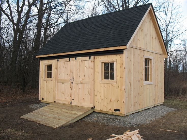12x16 Shed With A 45