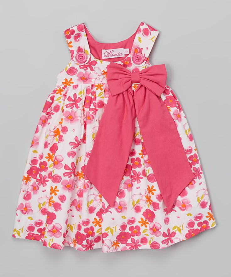Look at this Donita Pink Bow Sleeveless Dress - Infant & Kids on #zulily…