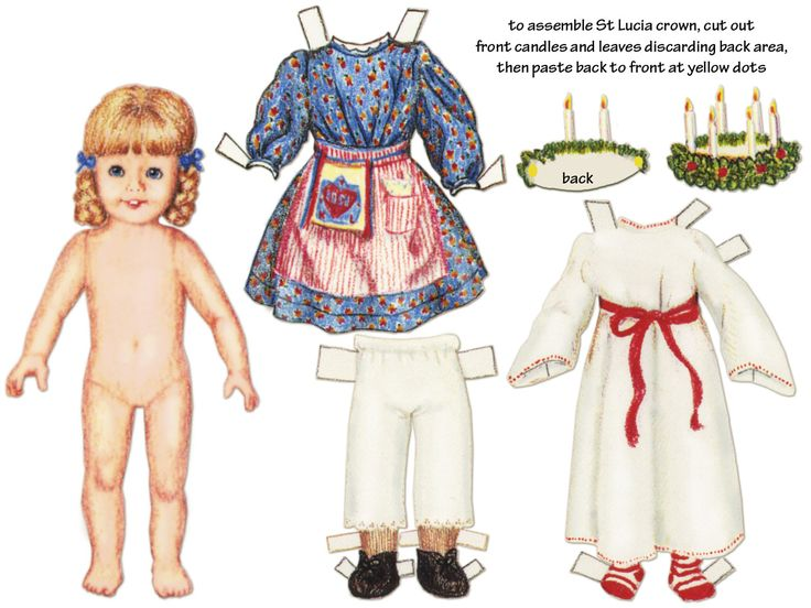 St. Lucy paper doll