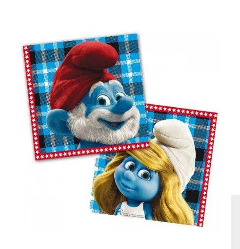 Leuke servetten van de Smurfen nu op voorraad. Combineer deze Smurfen servetten met onze Smurfen tafelkleed, borden, rietjes, vlaggenlijn etc. Uw Smufige feestje begint bij Feestwinkel Altijd Feest.