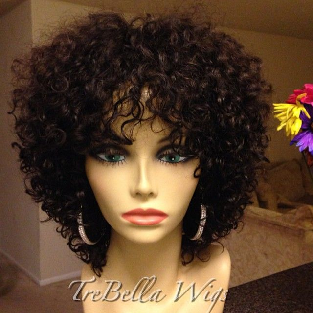 """My client asked if I could work with some cut pieces of curly hair she had in her """"stash"""". The hair was from various vendors and she didn't know what was what. She warned me that the hair was EXTREMELY short but once washed the curl was beautiful. I was her last option before trashing this hair. She couldn't do anything with it, she said. Send it to me, I said. #wig #wigs #wigmaker #wigmaster #trebella #trebellawigs #curlyhair #Padgram"""