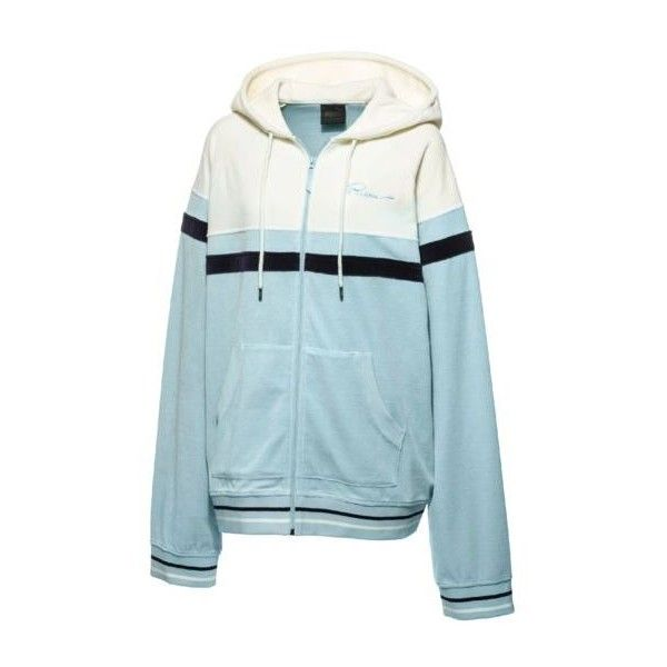 FENTY Men's Velour Hooded Track Jacket - US (€155) ❤ liked on Polyvore featuring men's fashion, men's clothing, men's activewear, men's activewear jackets, mens track tops and mens track jacket
