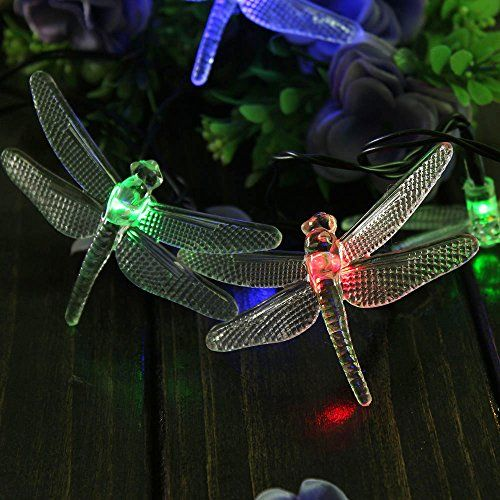 8 best led dragonfly solar fairy string lights images on pinterest awesome 20 leds ft solar powered multi color dragonfly fairy strings lights decorative lights for indoor outdoor christmas xmas parties wedding festival mozeypictures Gallery