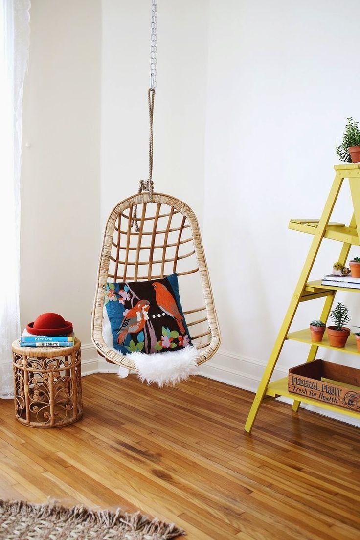 hanging chairs noretnicstyle decoracin natural con silln colgante de fibras naturales