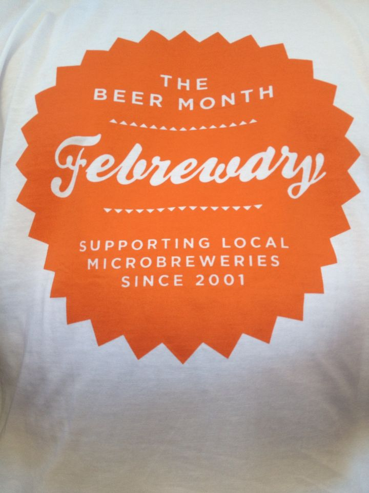 It's feBREWary in February. The Craft Beer Festival is on. Sat 21 Feb 2015