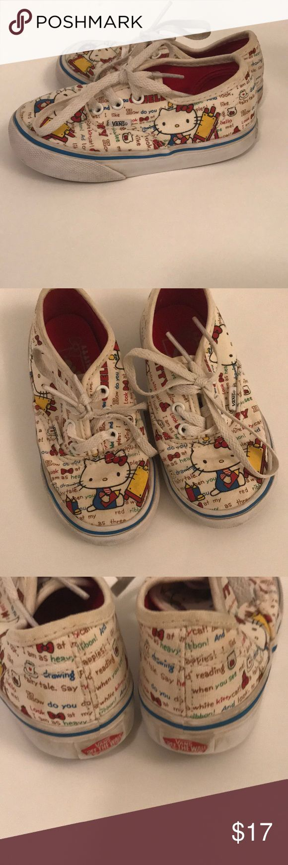 Hello Kitty Vans toddler size 7.5 Vans Hello Kitty edition in toddler size 7.5  Used condition but decently clean and no smells.  Lots of life. Vans Shoes Sneakers