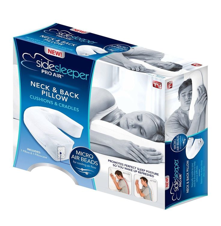 new sidesleeper therapeutic sleep pro air neck and back pillow as seen on tv sleeperpro