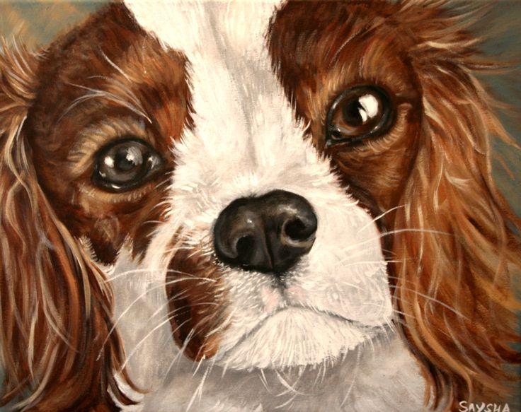 Skyler - Dog painted by Saysha Nicolson using acrylic on canvas - http://immortalart.co.za/