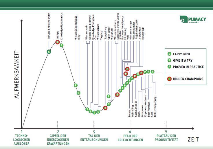 Wissensmanagement-Praktiken entlang des Hype-Cycles