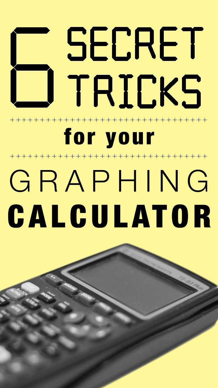 Graphing calculators can be used for much more than just math.