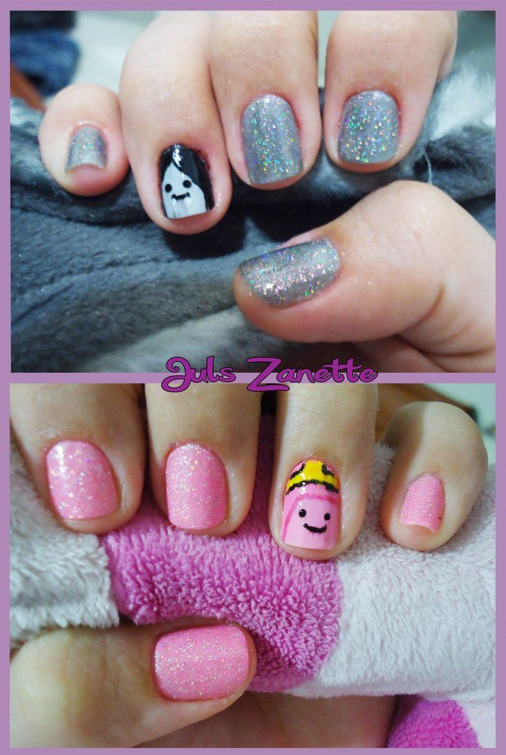 Adventure Time Nail art by julszanette