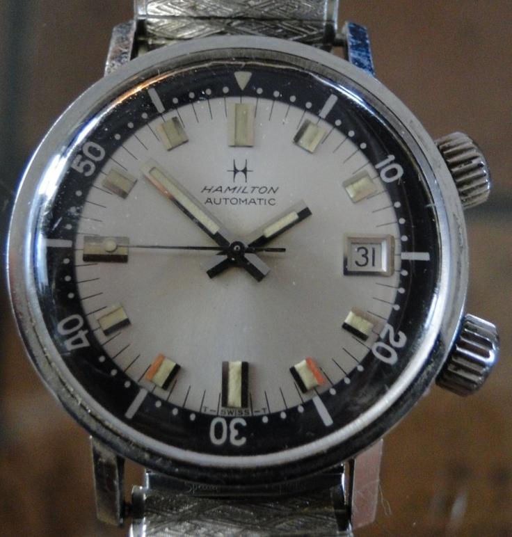 Vintage hamilton 600 automatic dive watch watches for Hamilton dive watch