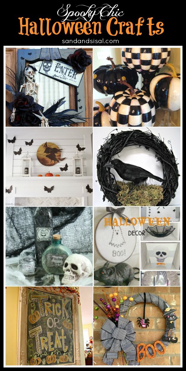 A fun collection of Spooky Chic Halloween Decor Craft tutorials.