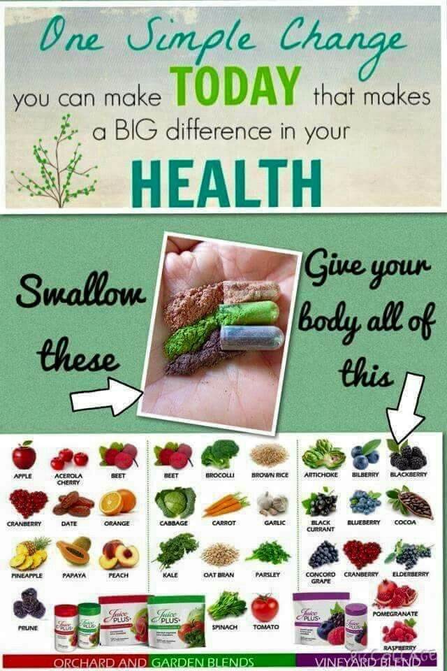 Juice Plus for life - What can't be helped by better nutrition? Real fruits and vegetables in a capsule! This is not a vitamin or a supplement. www.csahr.juiceplus.com