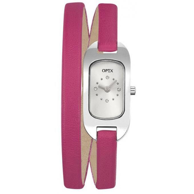 Montre Double Tour en Cuir Rose par Opex – (119.00€).On ose la touche de couleur au poignet avec cette montre Opex ! Avec son double bracelet fin et son cuir rose, elle est résolument féminine et dans l'air du temps.