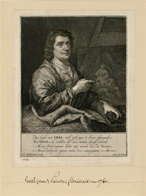 Jacobus Houbraken (1698-1780) | Joost van Geel (1631-1698) peintre hollandais
