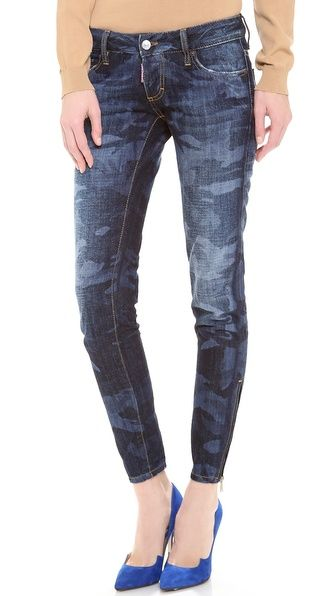 DSQUARED2 Mimetico Super Slim Jeans | camo I can get behind