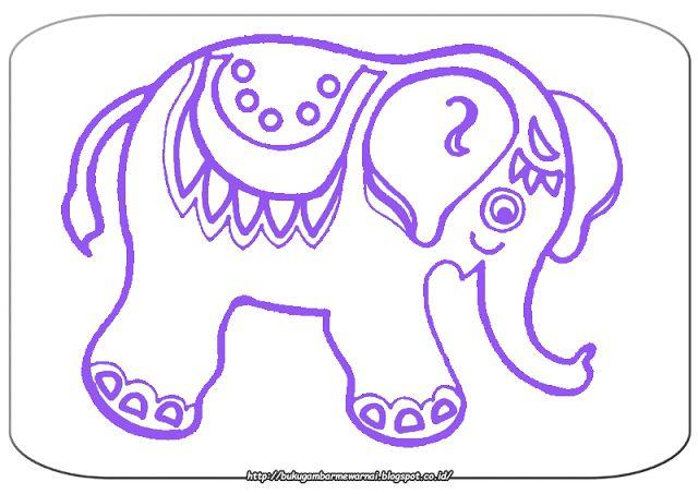 Gambar Mewarnai - Mewarnai Gambar Anak Gajah Sederhana.   Gambar di atas adalah gambar mewarnai ...