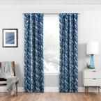 Eclipse Haley 84 in. L Indigo (Blue) Rod Pocket Curtain