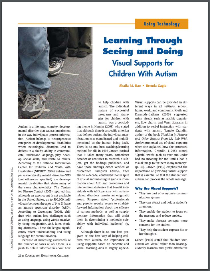 Incredible article from Exceptional Children about visual supports for children with autism.  Great examples!