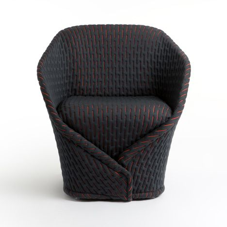 London designer Benjamin Hubert has created a chair that looks like its wrapped up in a cloak for Italian brand Moroso.