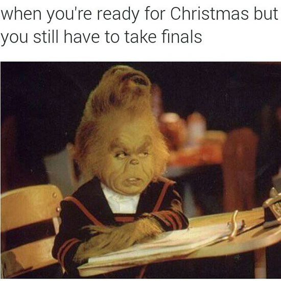 Here are some of the funniest finals week memes to help you get though your day.