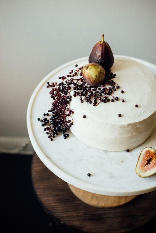 Hazelnut Cake with Fig Compote