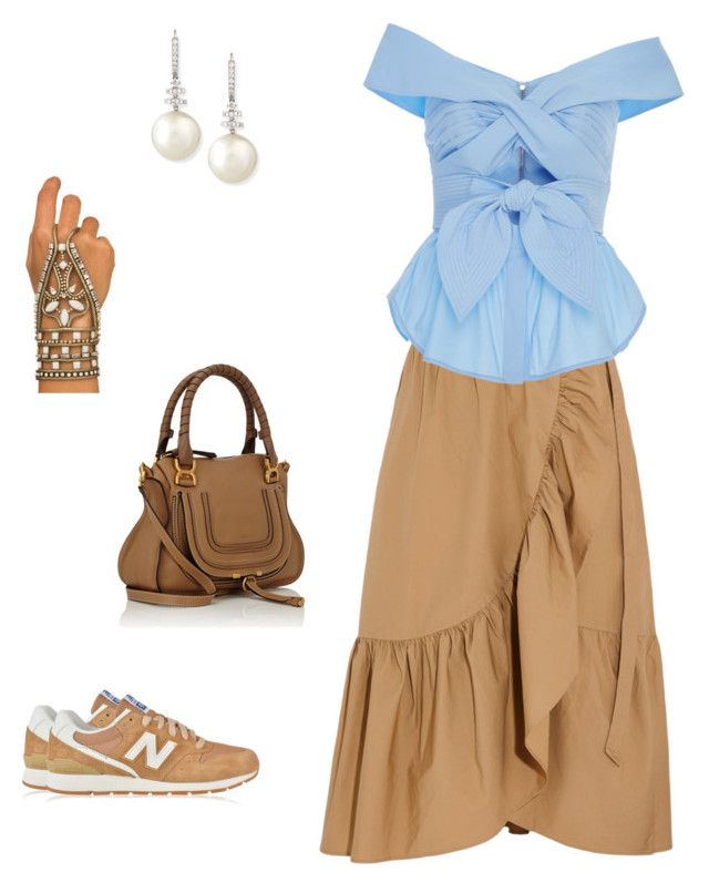 """""""Invpra"""" by pasha21 on Polyvore featuring J.Crew, Johanna Ortiz, New Balance, Belpearl, Lionette and Chloé"""