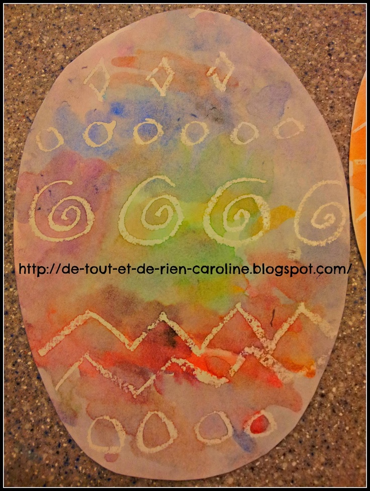 De tout et de rien: Crayon Resist Easter Eggs. Love these!