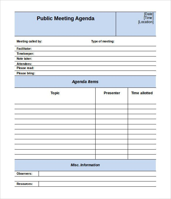 Más de 25 ideas increíbles sobre Meeting agenda template en - Free Meeting Agenda Templates
