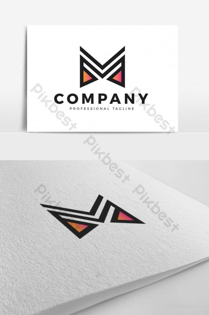 المهنية الإبداعية حرف م الشعار Eps تحميل مجاني Pikbest Coreldraw Design Letter M Logo Lettering