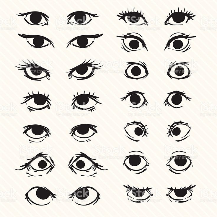 how to draw cartoon squinty eyes